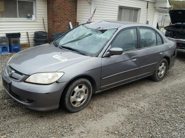 JHMES96654S021628 - 2004 HONDA CIVIC HYBR GRAY photo 2