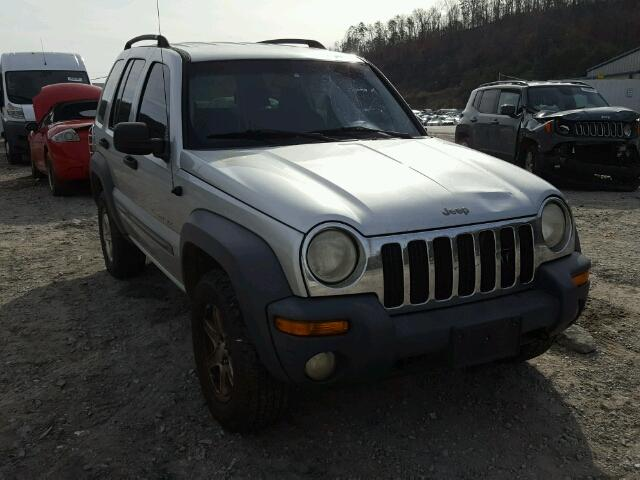 1J4GL48K42W114029 - 2002 JEEP LIBERTY SP SILVER photo 1