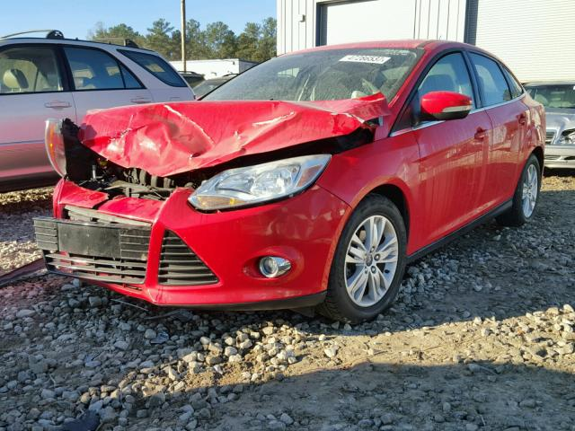 1FAHP3H26CL430923 - 2012 FORD FOCUS SEL RED photo 2