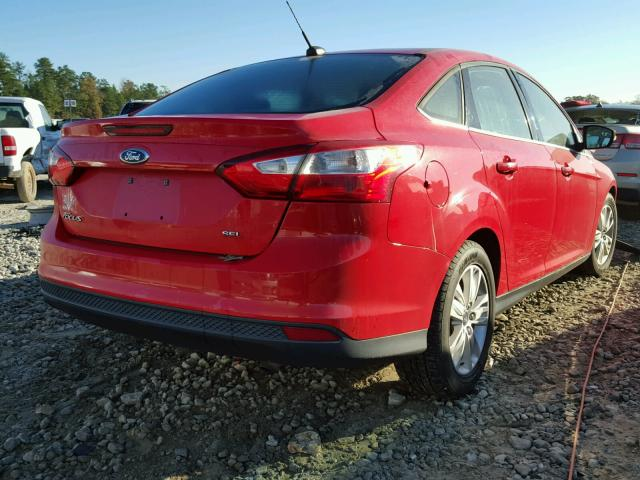 1FAHP3H26CL430923 - 2012 FORD FOCUS SEL RED photo 4