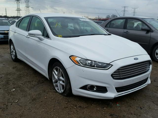 3fa6p0hd4er260430 2014 Ford Fusion Se White Price History Photo 1