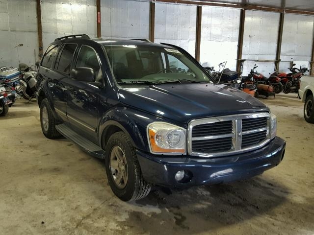 1D4HB58DX4F238140 - 2004 DODGE DURANGO LI BLUE photo 1