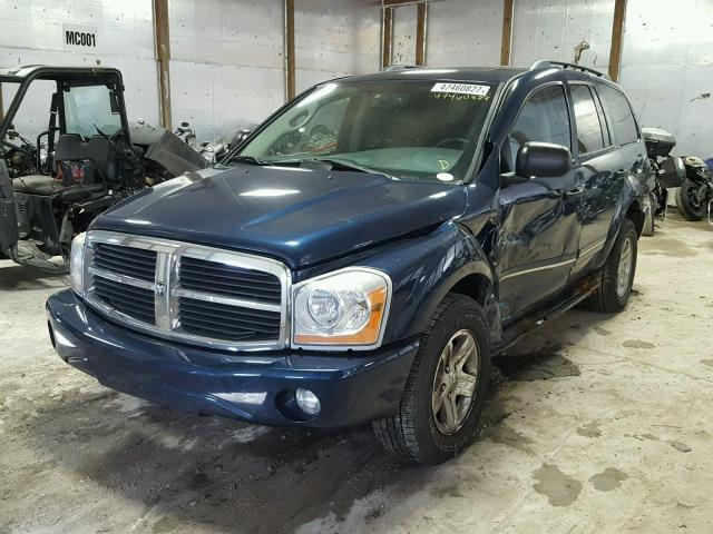 1D4HB58DX4F238140 - 2004 DODGE DURANGO LI BLUE photo 2