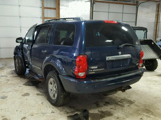1D4HB58DX4F238140 - 2004 DODGE DURANGO LI BLUE photo 3