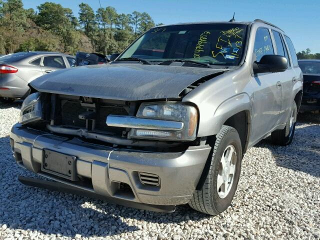 1GNDS13SX52370342 - 2005 CHEVROLET TRAILBLAZE GRAY photo 2