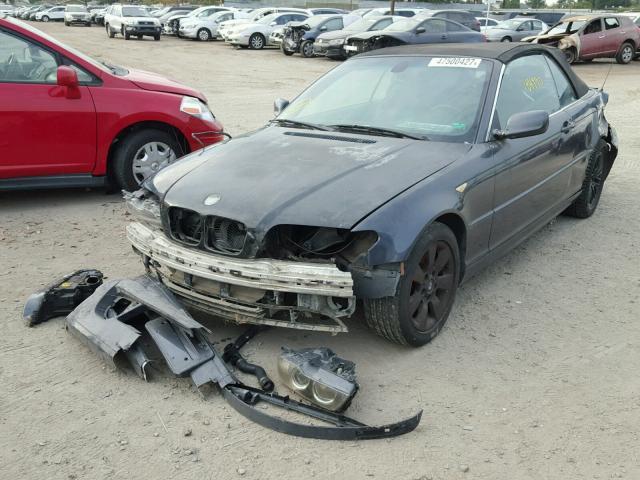 WBABW33416PX84404 - 2006 BMW 325 CI GRAY photo 2