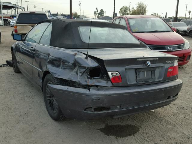 WBABW33416PX84404 - 2006 BMW 325 CI GRAY photo 3