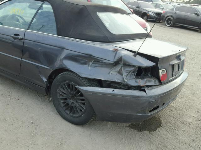 WBABW33416PX84404 - 2006 BMW 325 CI GRAY photo 9