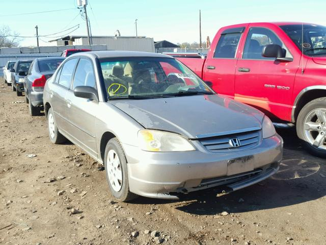 2HGES15523H523726 - 2003 HONDA CIVIC LX TAN photo 1
