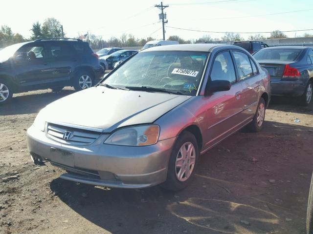 2HGES15523H523726 - 2003 HONDA CIVIC LX TAN photo 2