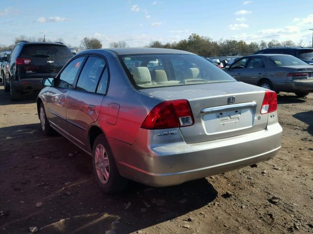 2HGES15523H523726 - 2003 HONDA CIVIC LX TAN photo 3