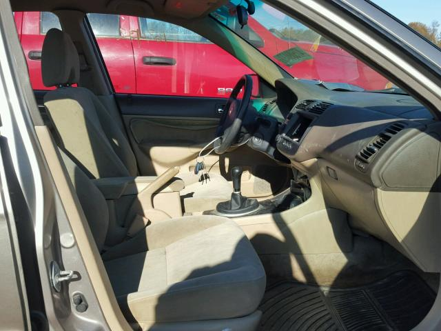 2HGES15523H523726 - 2003 HONDA CIVIC LX TAN photo 5