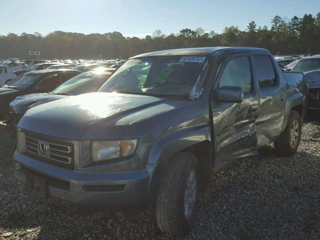 2HJYK16526H535904 - 2006 HONDA RIDGELINE BLUE photo 2