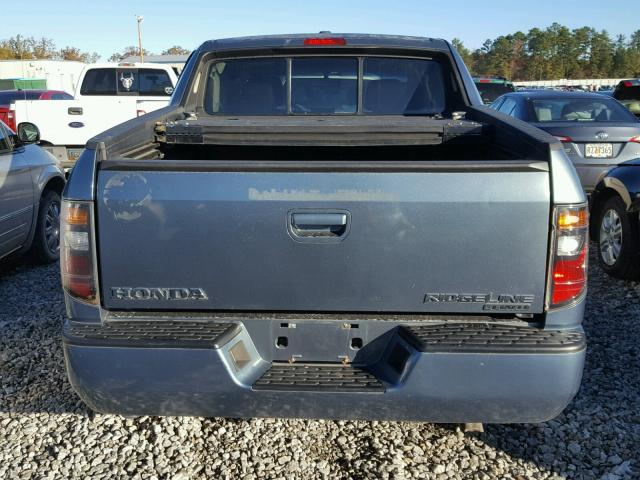 2HJYK16526H535904 - 2006 HONDA RIDGELINE BLUE photo 9