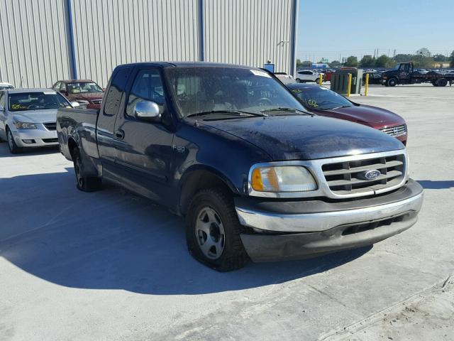 1FTRX17212NB92258 - 2002 FORD F150 BLUE photo 1