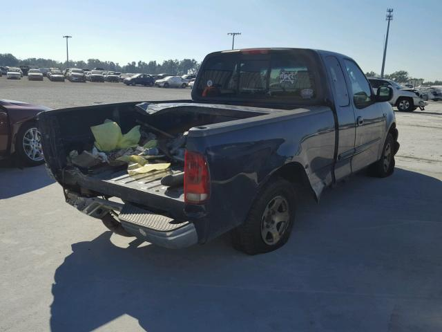1FTRX17212NB92258 - 2002 FORD F150 BLUE photo 4