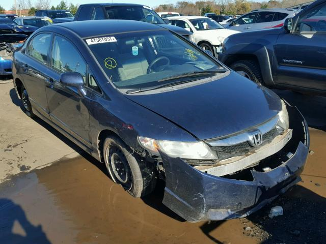 2HGFA1F52AH513426 - 2010 HONDA CIVIC LX BLUE photo 1