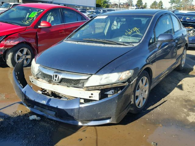 2HGFA1F52AH513426 - 2010 HONDA CIVIC LX BLUE photo 2