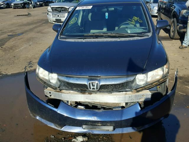 2HGFA1F52AH513426 - 2010 HONDA CIVIC LX BLUE photo 9