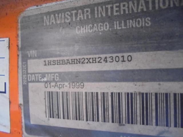 1HSHBAHN2XH243010 - 1999 INTERNATIONAL 8000 8100 UNKNOWN - NOT OK FOR INV. photo 10