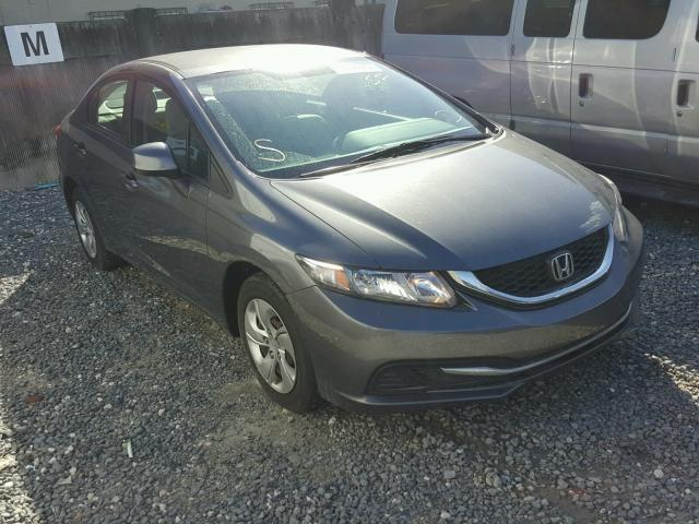 19XFB2F54DE025192 - 2013 HONDA CIVIC LX GRAY photo 1