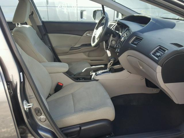 19XFB2F54DE025192 - 2013 HONDA CIVIC LX GRAY photo 5