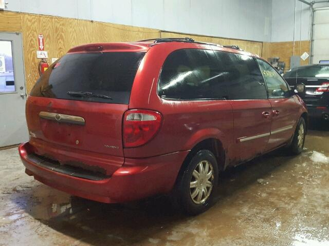 2A4GP54L77R193379 - 2007 CHRYSLER TOWN & COU RED photo 4