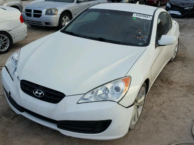 KMHHT6KDXCU070529 - 2012 HYUNDAI GENESIS CO WHITE photo 2