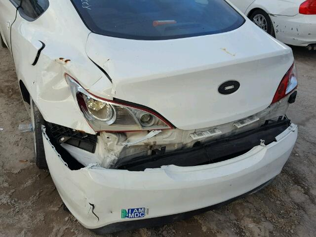 KMHHT6KDXCU070529 - 2012 HYUNDAI GENESIS CO WHITE photo 9