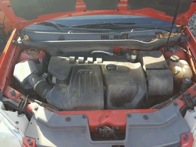 1G1AL55F877338262 - 2007 CHEVROLET COBALT LT RED photo 7