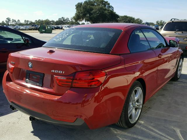 WBA3V9C53FP946732 - 2015 BMW 428 XI RED photo 4