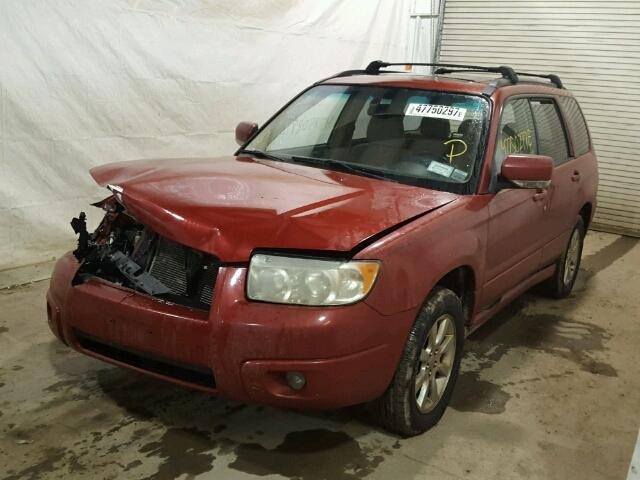 JF1SG65617H747922 - 2007 SUBARU FORESTER 2 RED photo 2