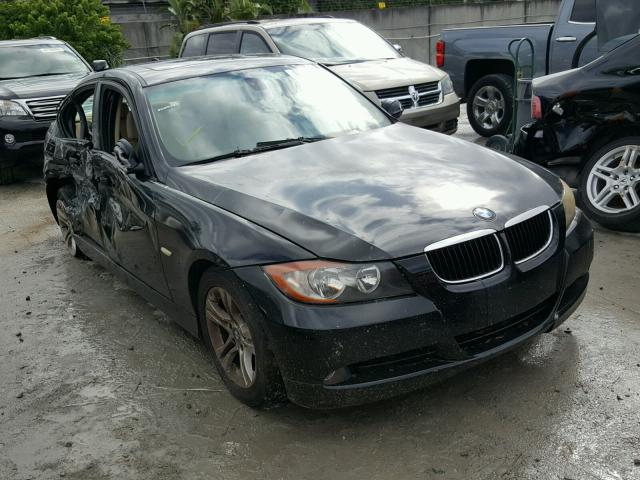 WBAVA33598KX87734 - 2008 BMW 328 I BLACK photo 1