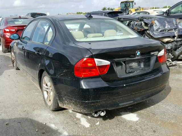 WBAVA33598KX87734 - 2008 BMW 328 I BLACK photo 3