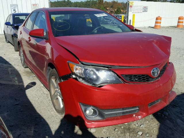 4T1BF1FK3CU615978 - 2012 TOYOTA CAMRY BASE RED photo 1