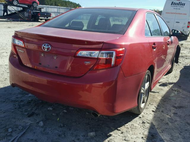 4T1BF1FK3CU615978 - 2012 TOYOTA CAMRY BASE RED photo 4