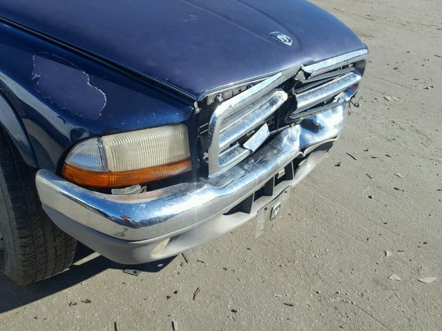 1D7GL42N54S509216 - 2004 DODGE DAKOTA SLT BLUE photo 9