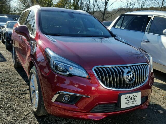 LRBFXBSA1HD048116 - 2017 BUICK ENVISION E RED photo 1