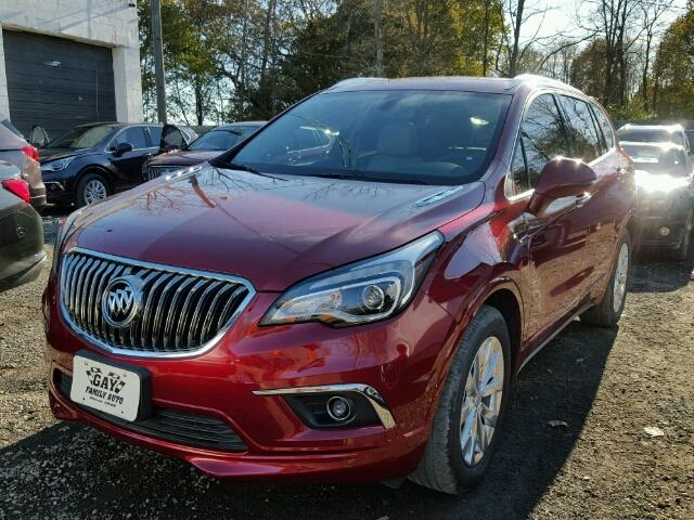 LRBFXBSA1HD048116 - 2017 BUICK ENVISION E RED photo 2