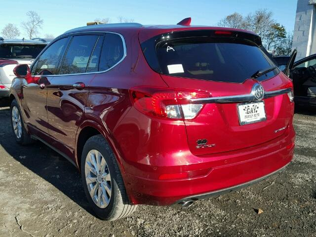 LRBFXBSA1HD048116 - 2017 BUICK ENVISION E RED photo 3