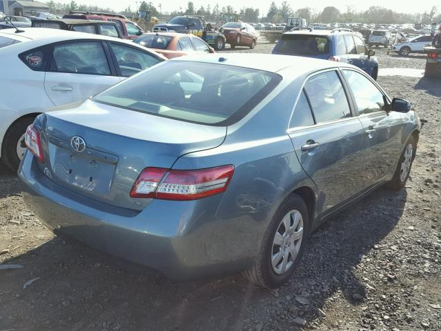 4T1BF3EK3BU684276 - 2011 TOYOTA CAMRY BASE GREEN photo 4
