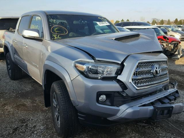 3TMCZ5AN7HM100499 - 2017 TOYOTA TACOMA DOU SILVER photo 1