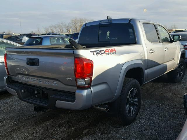 3TMCZ5AN7HM100499 - 2017 TOYOTA TACOMA DOU SILVER photo 4