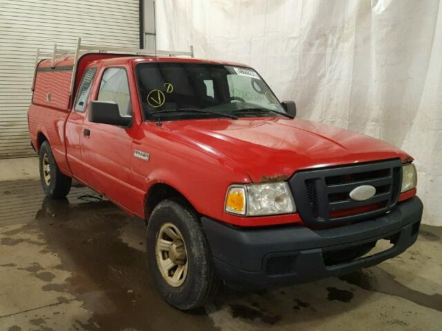 1FTYR14U37PA92783 - 2007 FORD RANGER SUP RED photo 1