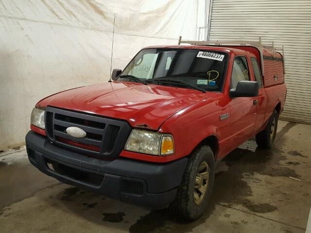 1FTYR14U37PA92783 - 2007 FORD RANGER SUP RED photo 2