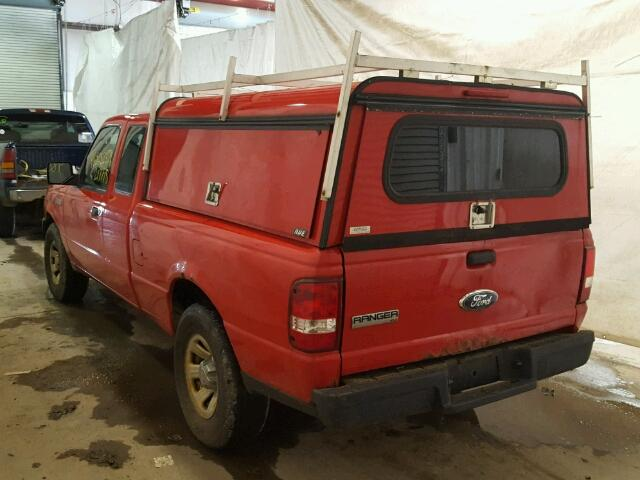 1FTYR14U37PA92783 - 2007 FORD RANGER SUP RED photo 3
