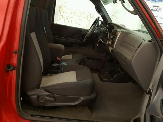 1FTYR14U37PA92783 - 2007 FORD RANGER SUP RED photo 5