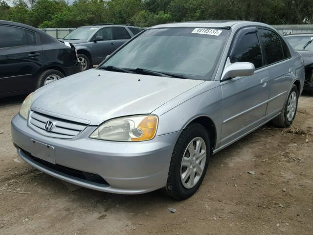 2HGES26743H564400 - 2003 HONDA CIVIC EX SILVER photo 2