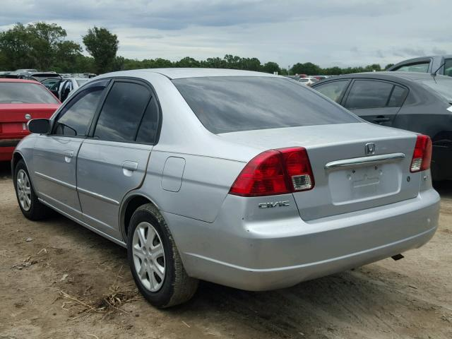 2HGES26743H564400 - 2003 HONDA CIVIC EX SILVER photo 3