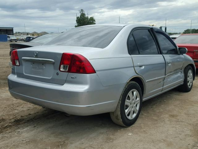 2HGES26743H564400 - 2003 HONDA CIVIC EX SILVER photo 4